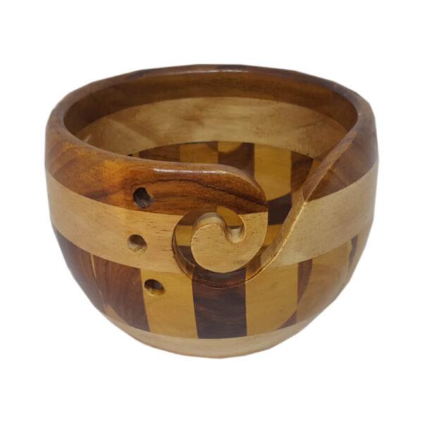 Scheepjes Multi Wood Checkered Yarn Bowl